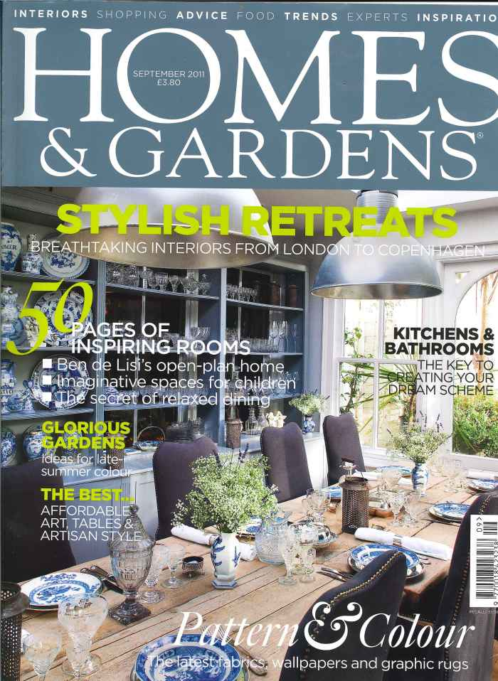Homes and Gardens September Cover
