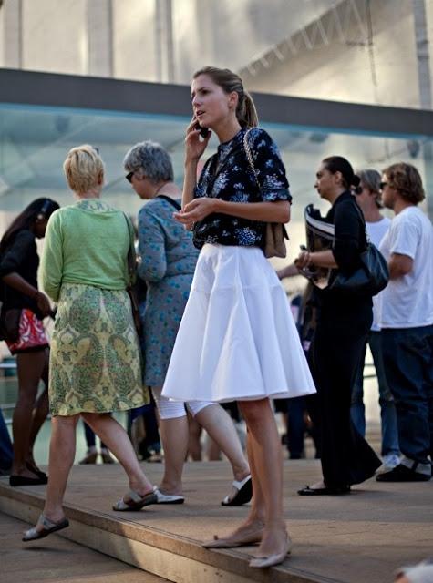 11.  full skirt street style