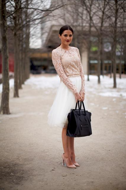 13.  full skirt street style