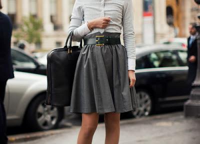 3. full skirt street style