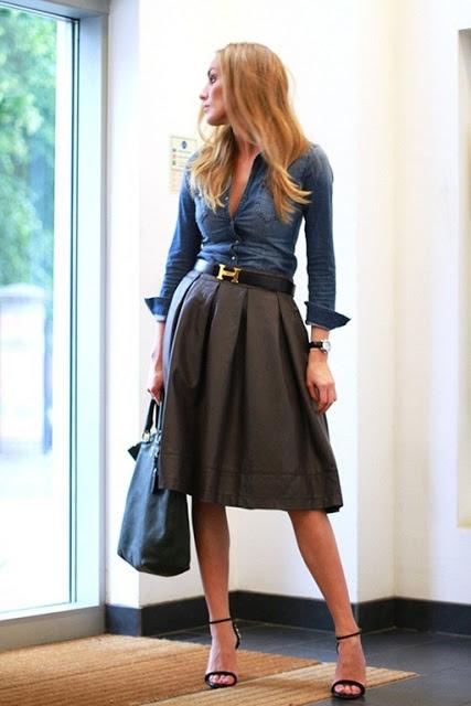4.  full skirt street style