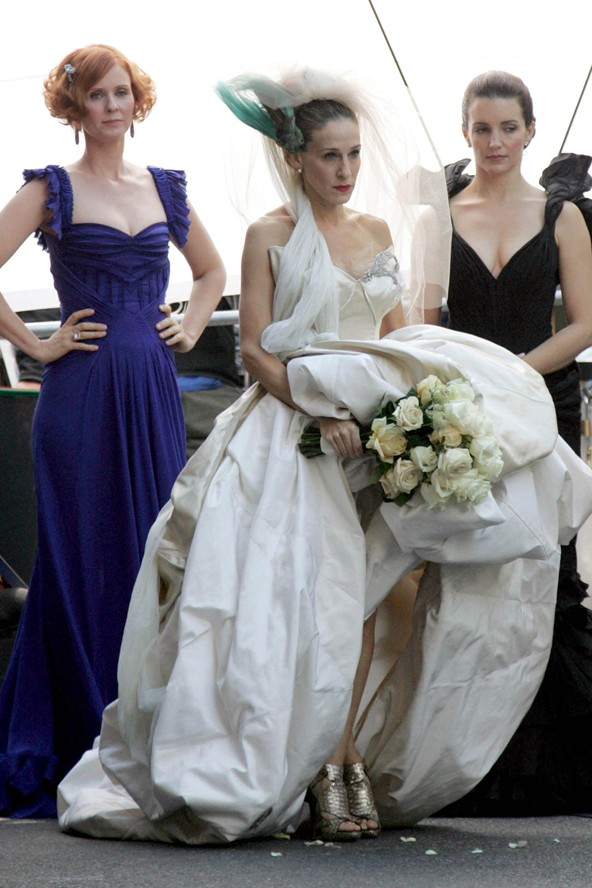 Famous and iconic weddings and dresses hannahs note for Sarah jessica parker wedding dress