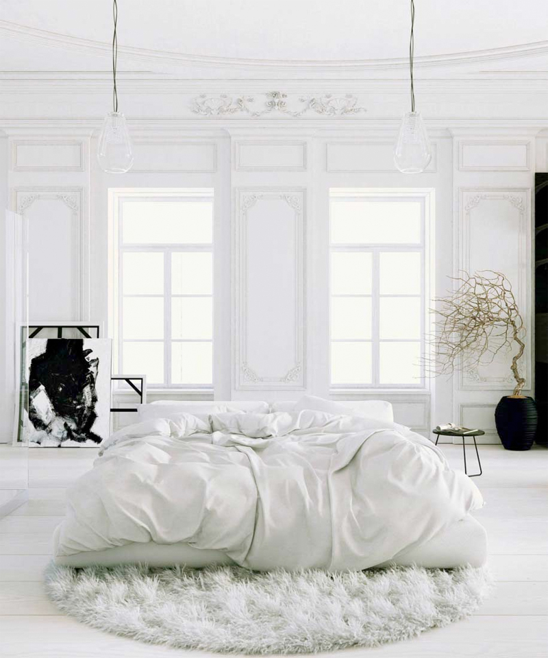 Top Picture of All White Bedroom | Sharon Norwood Journal