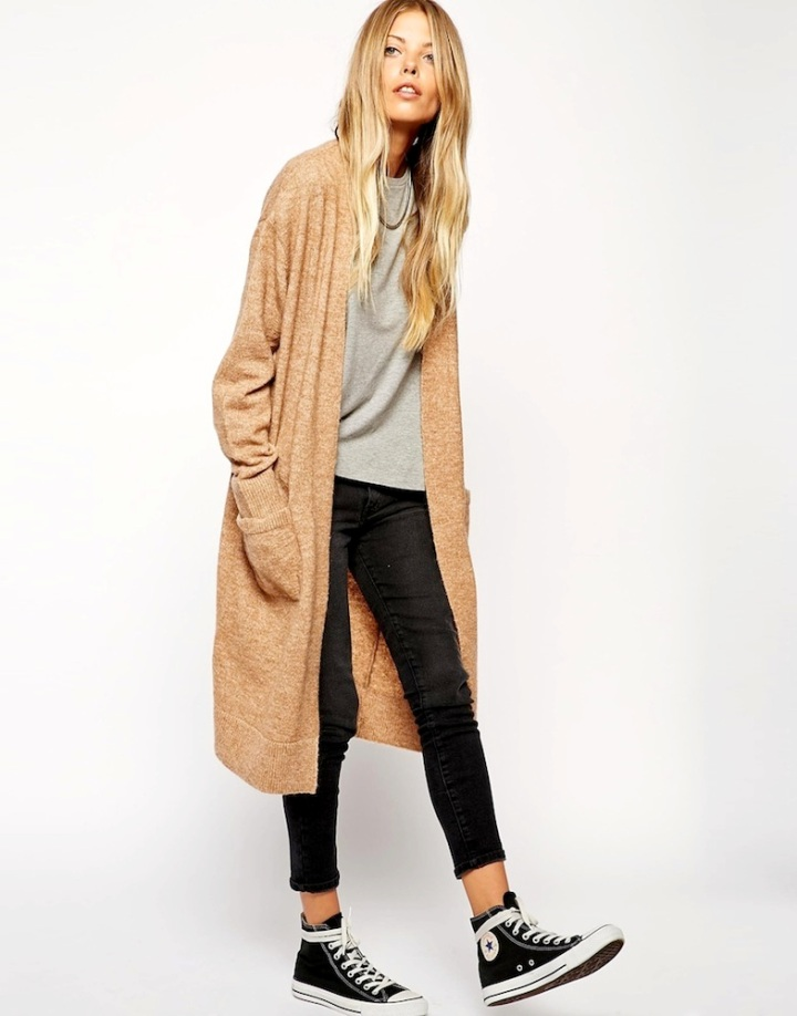 Le-Fashion-Blog-Weekend-Uniform-Asos-Long-Cardigan-Grey-Tee-Cropped-Black-Jeans-Converse-High-Top-Sneakers