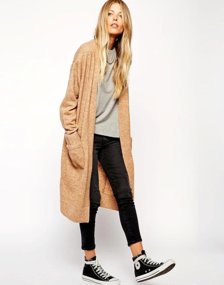 Le-Fashion-Blog-Weekend-Uniform-Asos-Long-Cardigan-Grey-Tee-Cropped-Black-Jeans-Converse-High-Top-Sneakers