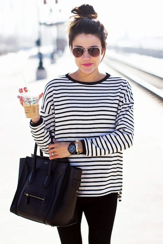 13-Le-Fashion-Blog-15-Crazy-Cool-Top-Knots-Bun-Up-Do-Hair-Hairstyle-Inspiration-Striped-Tee-Blogger-Hello-Fashion