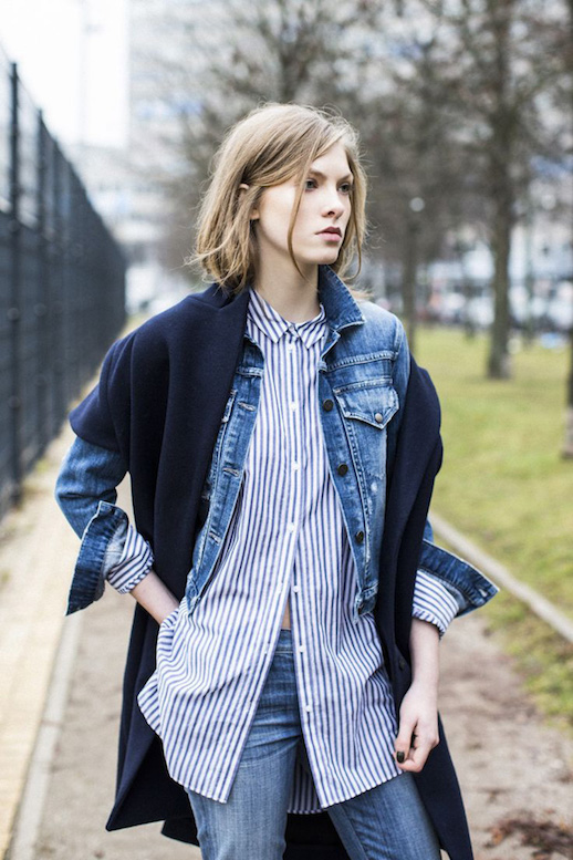 Le-Fashion-Blog-25-Ways-To-Wear-A-Striped-Button-Down-Shirt-Denim-Jacket-Coat-Charlie-Via-A-Love-Is-Blind