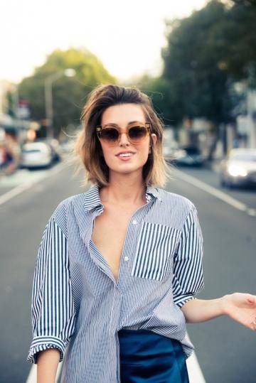 Le-Fashion-Blog-25-Ways-To-Wear-A-Striped-Button-Down-Shirt-Sunglasses-Carmen-Hamilton-Via-The-Coveteur