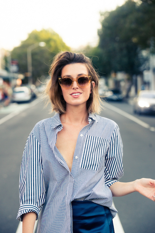 Le-Fashion-Blog-25-Ways-To-Wear-A-Striped-Button-Down-Shirt-Sunglasses-Carmen-Hamilton-Via-The-Coveteur