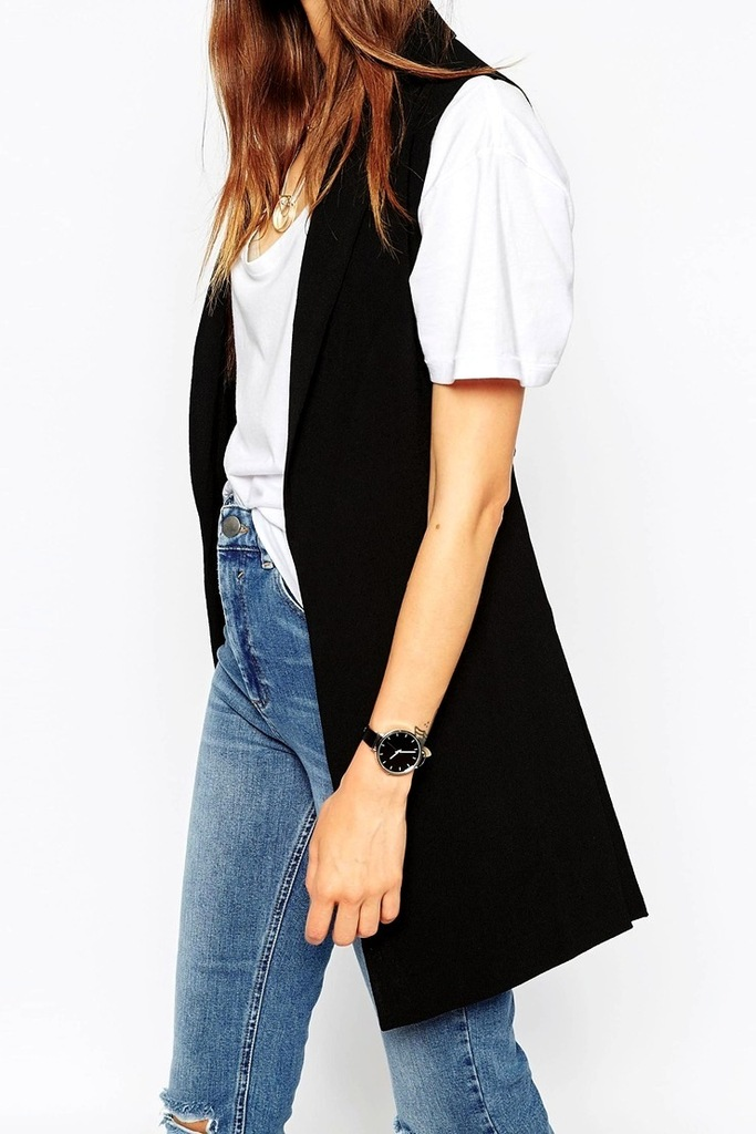 Le-Fashion-Blog-Black-Sleeveless-Blazer-Vest-White-T-Shirt-High-Waisted-Ripped-Knee-Jeans-Black-Round-Watch-Affordable-Budget-Friendly-Style-Via-ASOS
