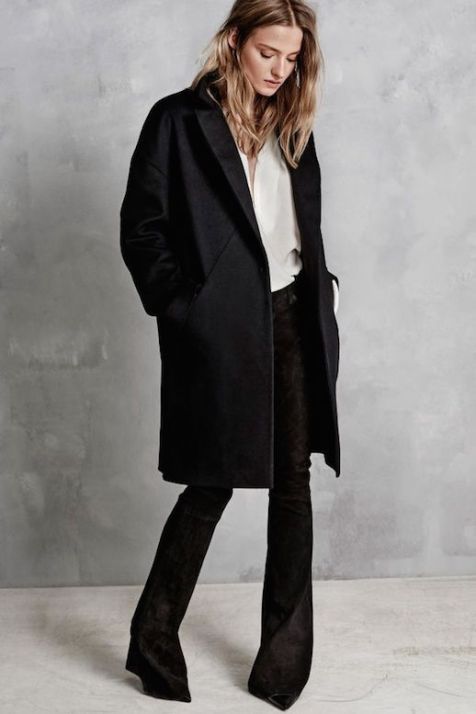 Le-Fashion-Blog-Hunky-Dory-FW-AW-2105-Lookbook-Black-Coat-Crepe-Shirt-Suede-Flare-Pants-Pointed-Heels