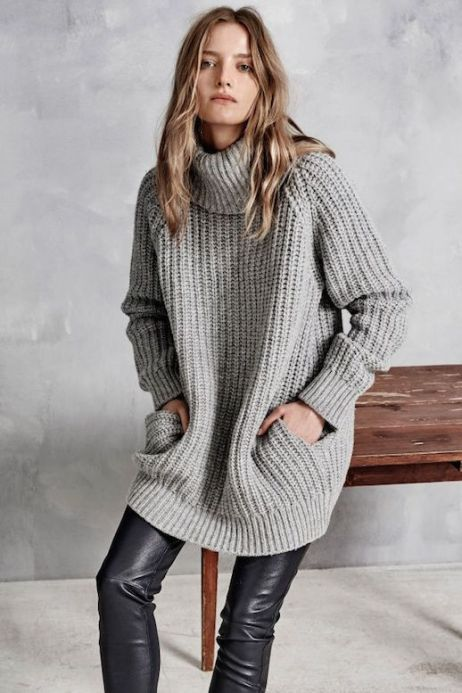 Le-Fashion-Blog-Hunky-Dory-FW-AW-2105-Lookbook-Chunky-Knit-Turtleneck-Sweater-Pockets-Leather-Leggings-Pants