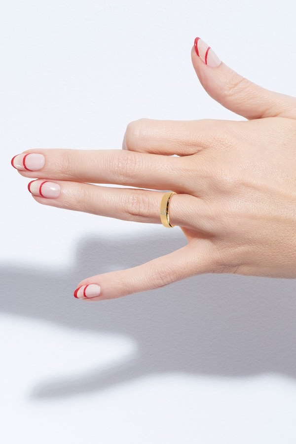 Le-Fashion-Blog-Nail-Art-Inspiration-Holiday-Party-Christian-Louboutin-Two-Lines-Striped-Manicure-Nail-Polish-Via-Nordstrom