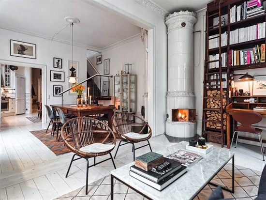 Etc-Inspiration-Blog-Inside-An-Irresistibly-Charming-Scandinavian-Home-Via-Home-Design-Lover-Fireplace