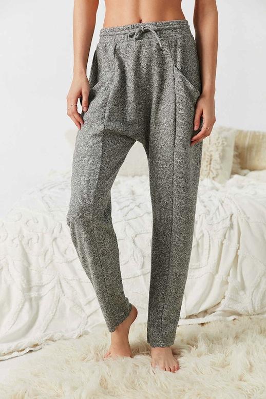 Le-Fashion-Blog-Winter-Style-Light-Grey-Knit-Low-Crotch-Pjs-Sweatpants-Lounge-PantsVia-UO
